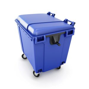 Large trash bins decrease pickup frequencies and cut costs