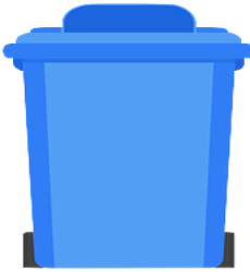 Shredding and trash container for general medical waste