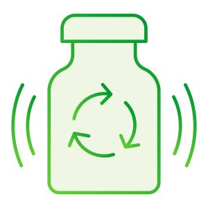 Recycling medication flat icon.